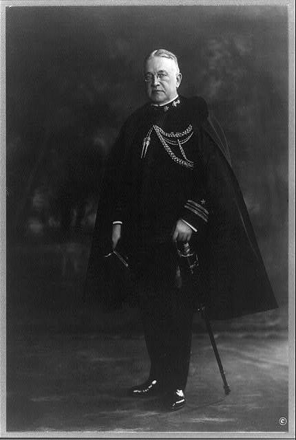 [Truman Handy Newberry, full-length portrait, standing facing left, in uniform with cape]