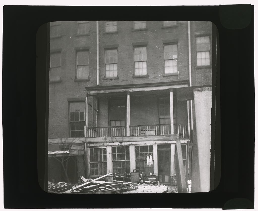 [Turtle Bay Gardens, New York, New York. Townhouses before renovation,]
