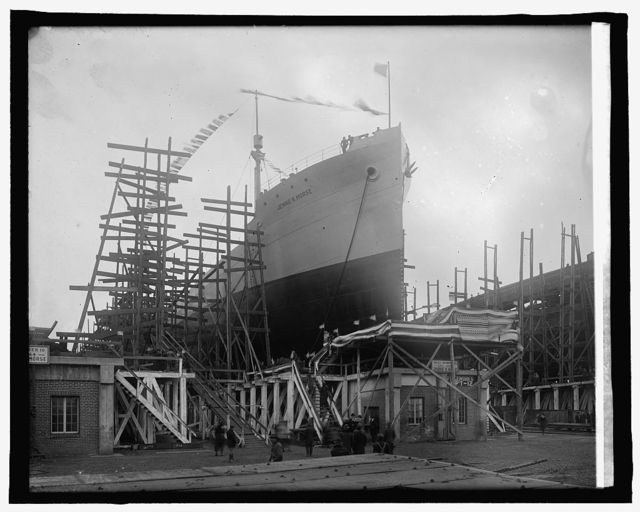 Va. Ship bldg.: launching Jennie R. Morse