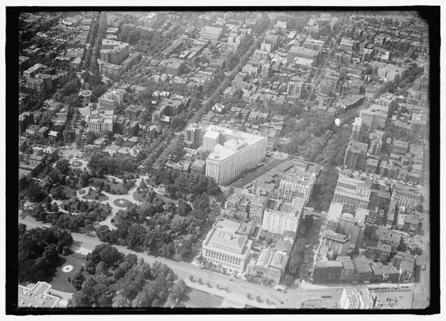 WASHINGTON, D.C., DOWNTOWN. VIEW FROM AIR