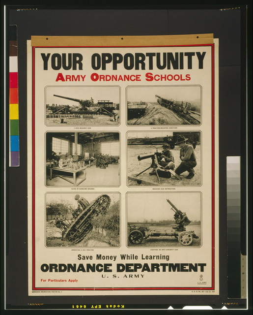 Your opportunity - Army ordnance schools