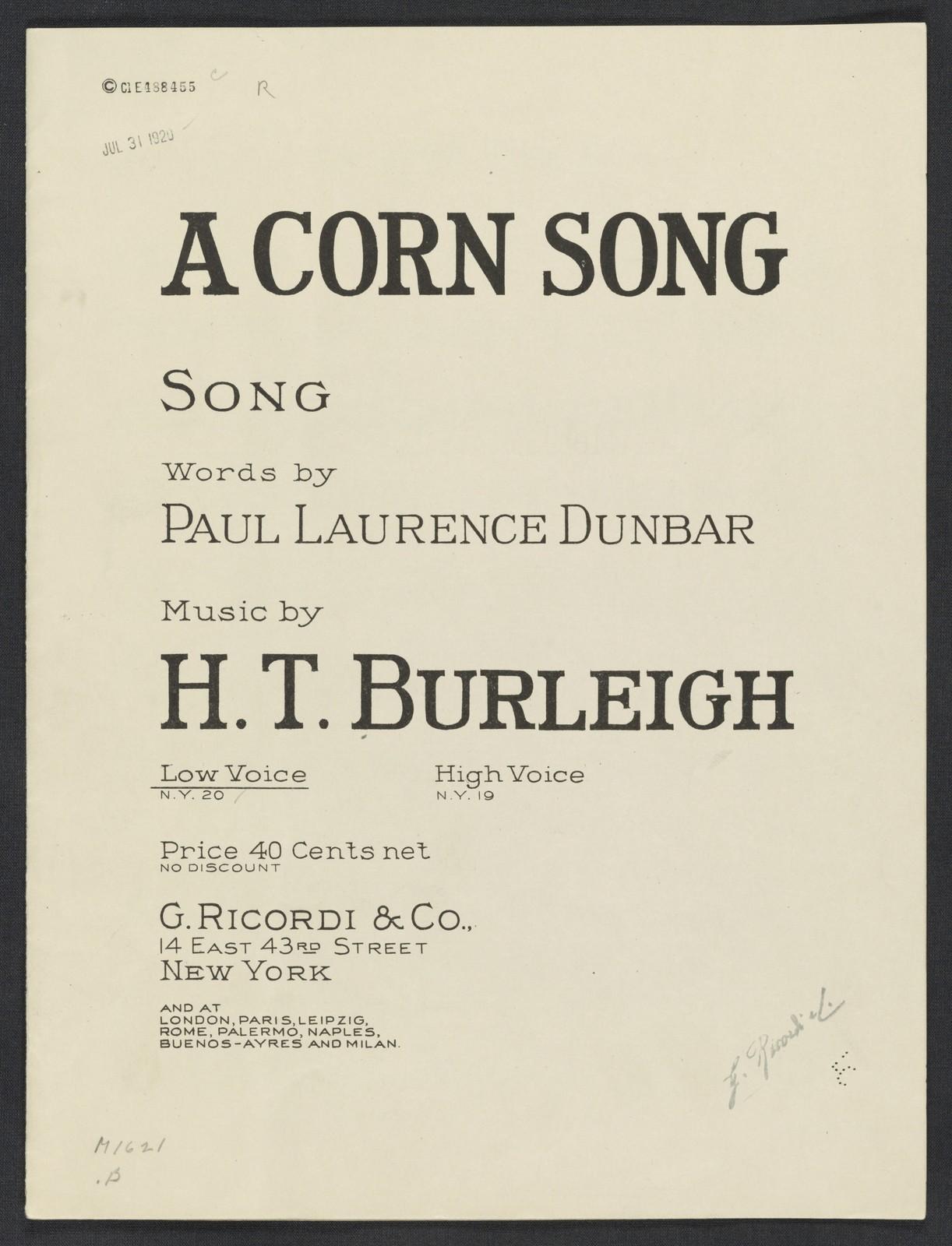 A  corn song song