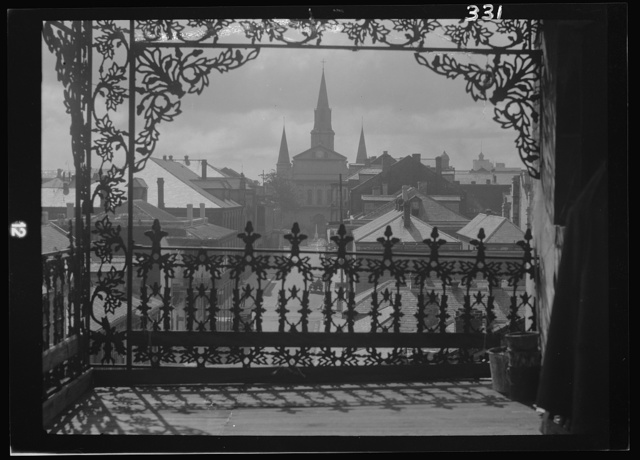A vista through iron lace, New Orleans
