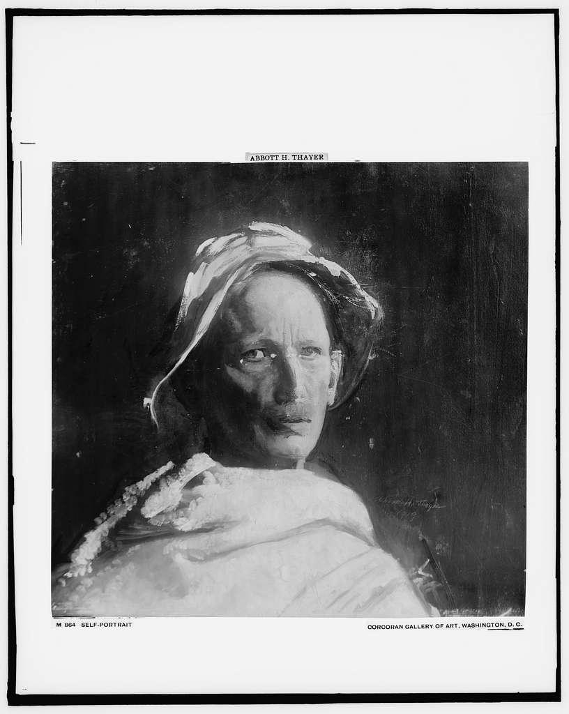 Abbott Handerson Thayer, head and shoulders self-portrait - PICRYL Public Domain Image