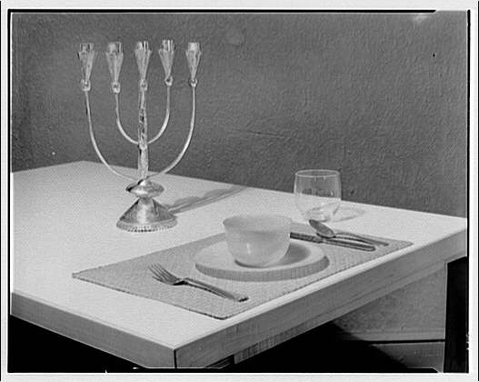 America House, Goodheart furniture store, 2101 K St. Table setting with candelabra