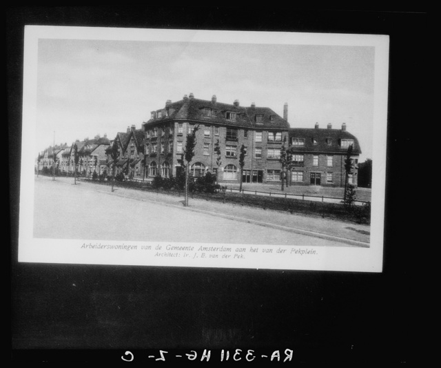 Amsterdam, Netherlands. Workers' houses owned by the city, on the Pekplein. Architect: J.E. Vander Pek