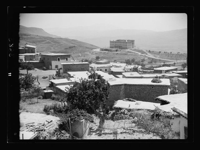 Anti Lebanon. Rayak to Damascus. Bludan showing the large French hotel in the distance