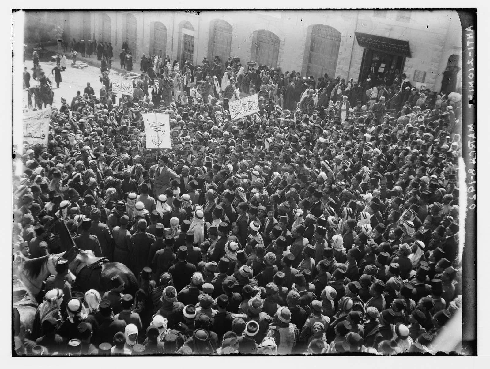 Arab demonstration