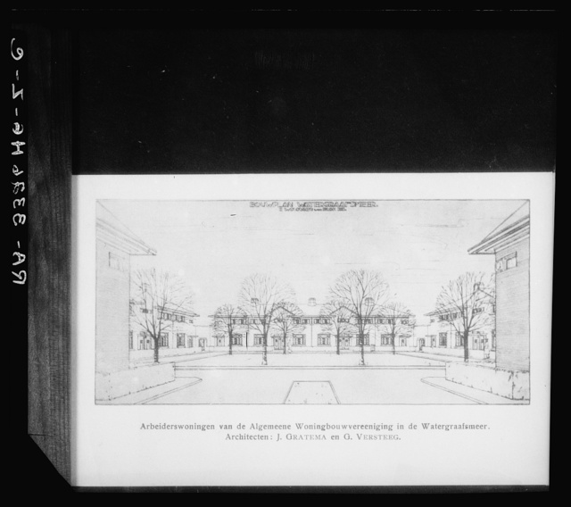 Architects' sketch by H. Graterna and G. Versteet, for workers' houses for the General Housing Association (Algemeene Woningbouwvereeniging) at the Watergraafsmeer
