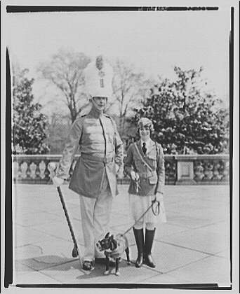 Arlington National Cemetery. Drum major and VFW person