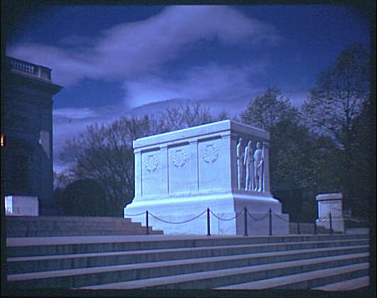 Arlington National Cemetery. Tomb of the Unknown Soldier, side angle from below II