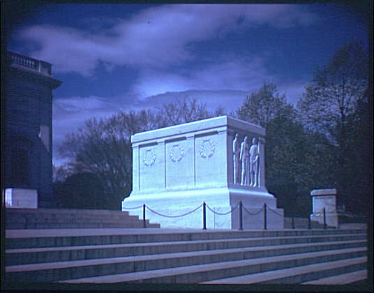 Arlington National Cemetery. Tomb of the Unknown Soldier, side angle from below I