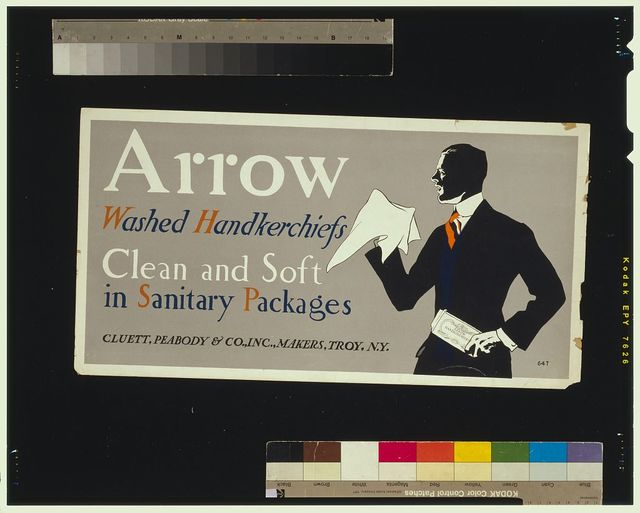 Arrow washed handkerchiefs, clean and soft in sanitary packages