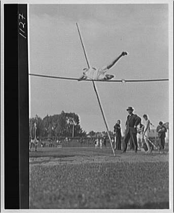 Athletics. High bar jump