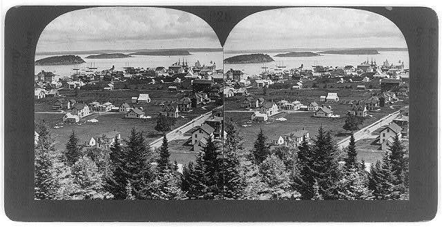 Bar Harbor from Scotts Hill, Mount Desert, Maine