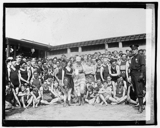 Bathing beach beauty contest, 1920, Eliz. Margaret Williams & Eliz. Roache (winners)