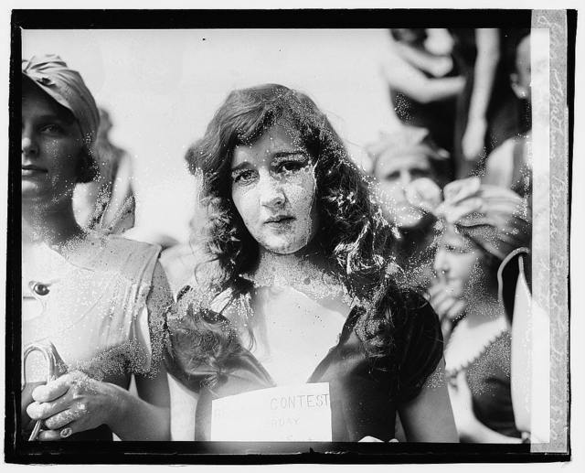Bathing beach beauty contest, [1920], Eliz. Roache (most beautiful suit)