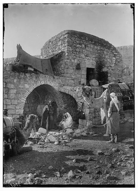 """Bethlehem and surroundings. A Judean home. Suggestive of the """"Wise Men"""" seeking the Christ Child"""