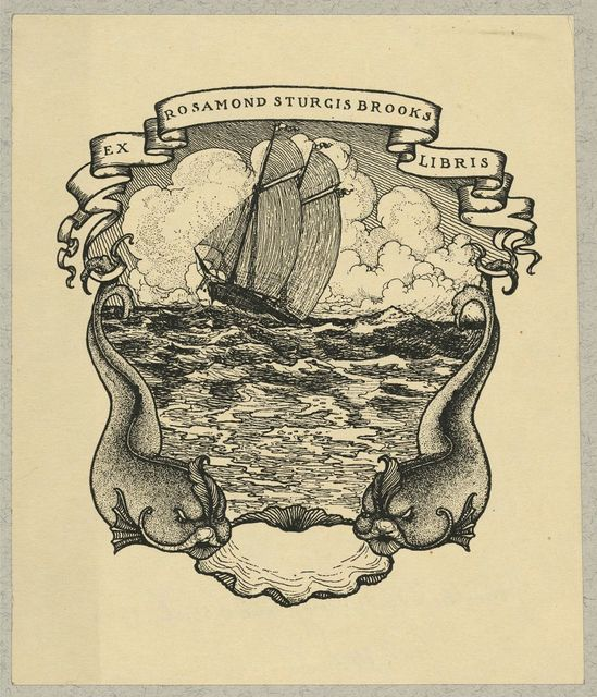 [Bookplate of Rosamond Sturgis Brooks]