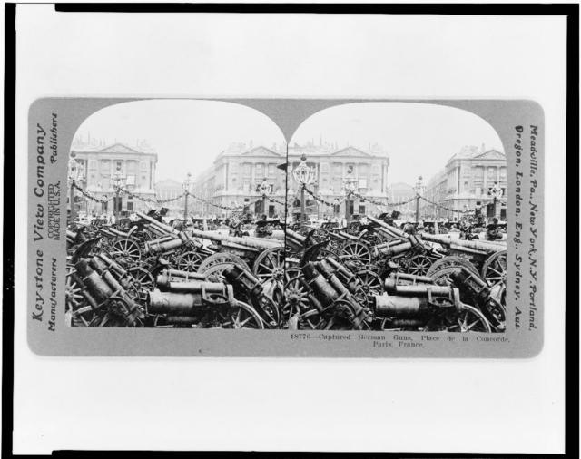 Captured German guns, Place de la Concorde, Paris, France