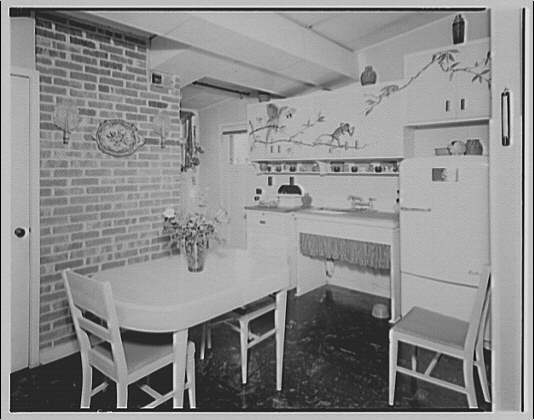 Cedar Point Federal Housing. Kitchen at Cedar Point