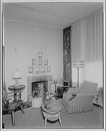 Cedar Point Federal Housing. Living room at Cedar Point