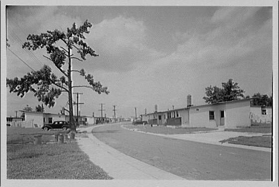 Cedar Point Federal Housing. Road leading to Cedar Point housing