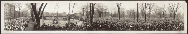 "Ceremony of ""Turning the Sod"" of the New Masonic Temple, Thanksgiving Day at High Twelve, 1920"