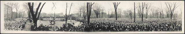 "[Ceremony of ""Turning the Sod"" of the New Masonic Temple, Thanksgiving Day at High Twelve, 1920]"