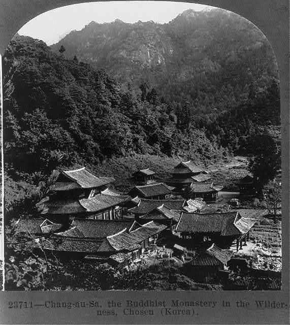 Chang-au-Sa, the Buddhist monastery in the wilderness, Chosen (Korea)