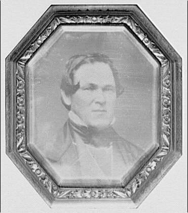 Charles Quarles. Copy portrait of man in nineteenth-centruy dress in octagonal frame