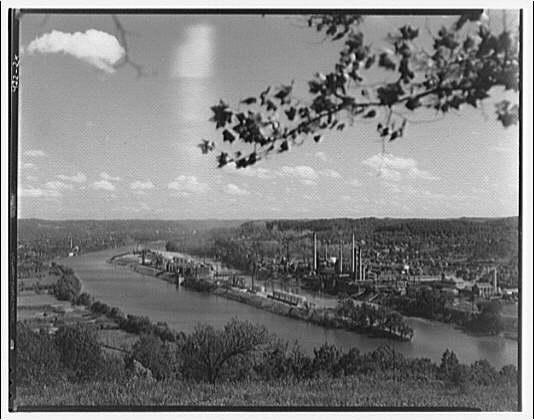 Charleston and Blaine Island, West Virginia. General view of Charleston II