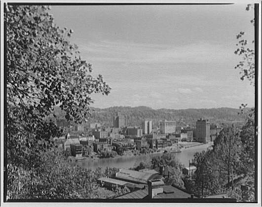 Charleston, West Virginia. View of business section in Charleston