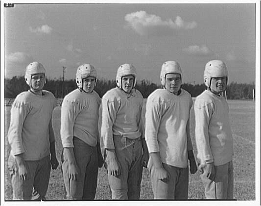 Charlotte Hall Military Academy. Five football players