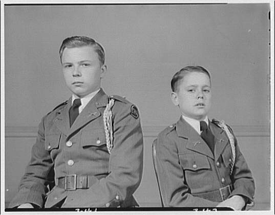 Charlotte Hall Military Academy. Two students I