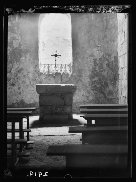 Church of the Holy Sepulchre and surroundings. Church of St. John. Crusader altar in the crypt
