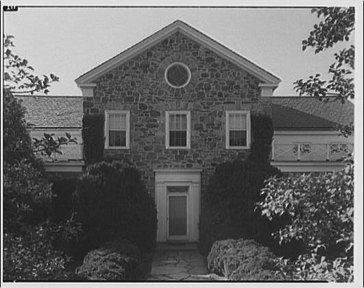 Colonel John Tysowski, Cobbler Mountain Farm, Delaplane, Virginia. Exterior of house showing door