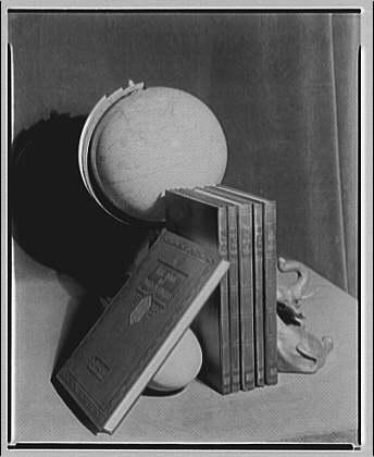 Commercial art studio. Books and globe II