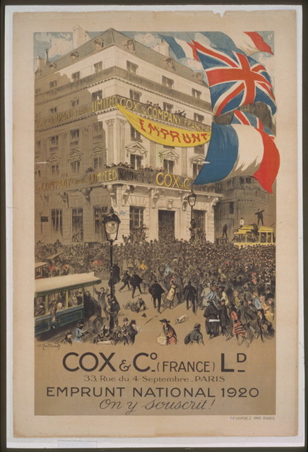 Cox & Co. - (France) Ld. . . . Emprunt national 1920 . . . On y souscrit