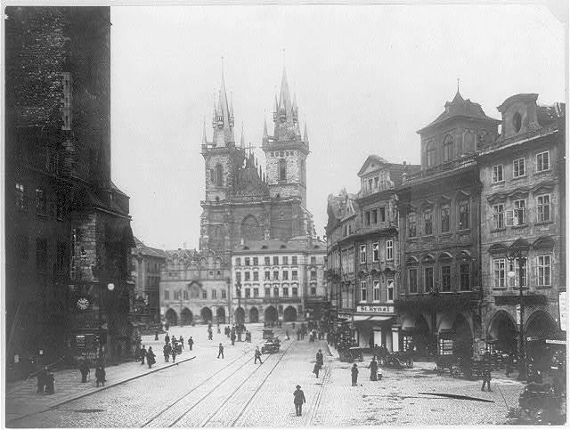 Czeckoslovakia - Prague - old town square with Tyn Ch.