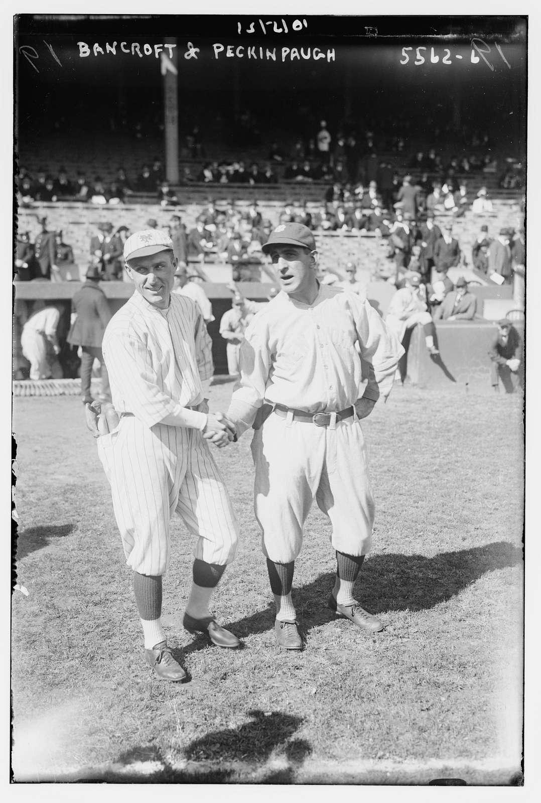 Dave Bancroft, New York NL & Roger Peckinpaugh, New York AL (baseball)