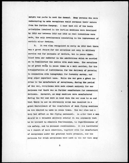 Deposition by J. A. D. McCurdy, April 9, 1920