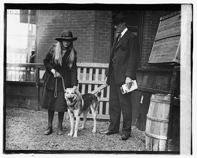 Dog show, 1920; Franklin D. Roosevelt & daughter, 5/8/20
