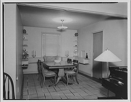 Dr. R.J. Bunche, house on 1510 Jackson St., N.E. Dining room in house at 1510 Jackson St., N.E.