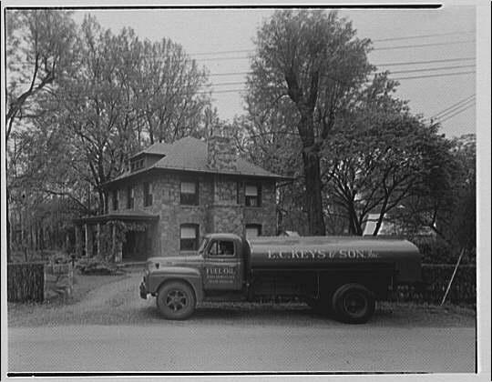 E.C. Keys & Sons, Inc., Silver Spring. E.C. Keys truck parked near house
