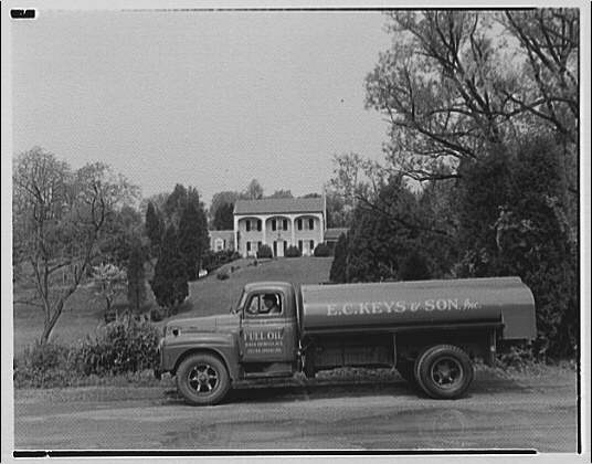 E.C. Keys & Sons, Inc., Silver Spring. E.C. Keys truck parked on street with house in background