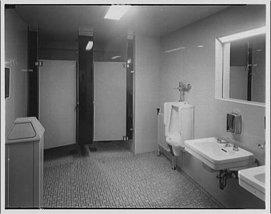 Editors (Kiplinger) Building. Washroom in Editors (Kiplinger) Building I