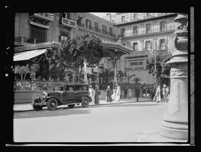 Egyptian Hotels, Ltd, Cairo. Continental Savoy Hotel. Entrance on the Opera Square