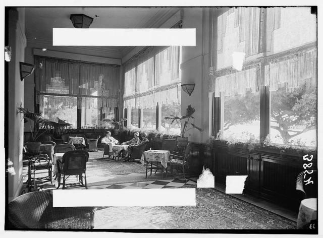 Egyptian hotels Ltd., Cairo. Semiramis Hotel, interior. The main lounge