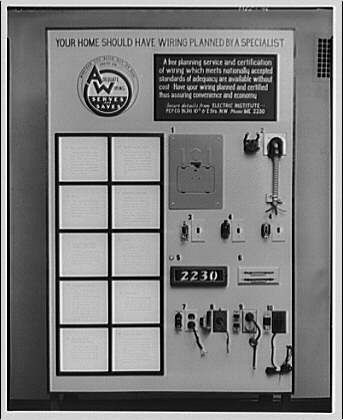 Electric Institute of Washington, Potomac Electric Power Co. building. Display board of attachments